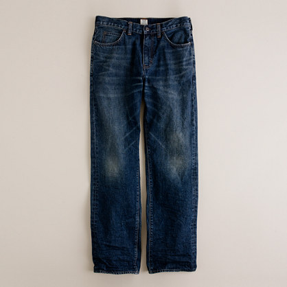 J.Crew Straight jean in indigo medium worn wash