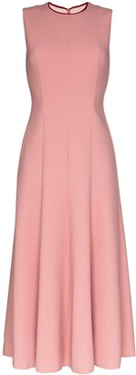 Roksanda Contrast Panel Flared Midi Dress