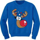 TeeStars - Cute Reindeer Face Boy / Girl Christmas Toddler/Kids Sweatshirts
