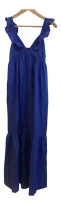 Masscob Blue Silk Dresses