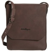 Salvatore Ferragamo Men's Icaro Leather Messenger Bag - Brown