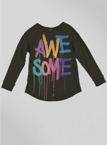 Junk Food Clothing Kids Girls Awesome Raglan-jtblk-l