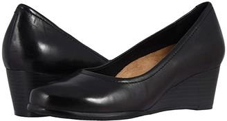 Trotters Winnie (Black Leather) Women's Sandals