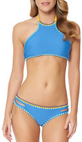 Jessica Simpson Woodstock Solids Reversible Bikini Top