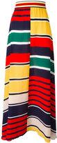 Hilfiger Collection striped maxi skirt
