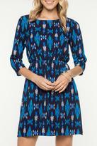 Everly Blue Print Dress