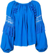 Ulla Johnson cut out and tassel detail blouse
