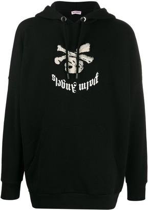 Palm Angels upside down logo hoodie