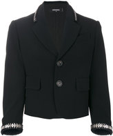 DSQUARED2 coin-trimmed blazer
