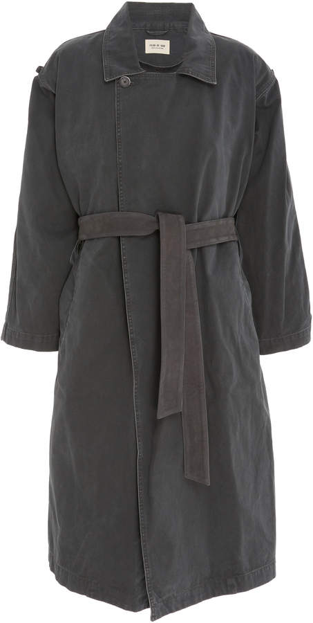 Fear Of God Belted Canvas Trench Coat