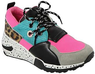 Top Moda Women's Sneakers NEON - Neon Pink & Teal Color-Block Healy Sneaker - Women