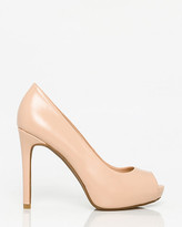 Le Château Leather-Like Peep Toe Platform Pump