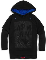 Armani Junior Armani Boys' Layered Look Hoodie - Little Kid, Big Kid