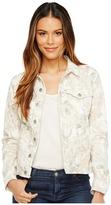 7 For All Mankind Classic Denim Jacket w/ Distress ) Women's Coat