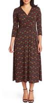 Chaus Venetian Garden Wrap Front Dress