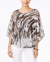 Alfani Printed Poncho Top, Only at Macy's