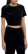 Missguided Women's Crop Velvet Tee