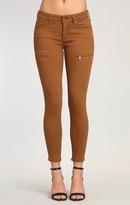 Mavi Jeans Karlina Skinny Cargo In Bronze Brown Twill