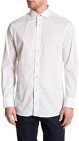 Nick Graham Geo Print Trim Fit Dress Shirt
