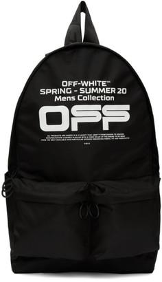 Off-White Black Wavy Logo Backpack