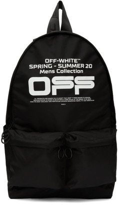 Off-White Off White Black Wavy Logo Backpack