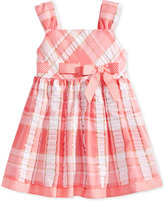 Bonnie Baby Metallic Plaid Seersucker Dress, Baby Girls (0-24 months)