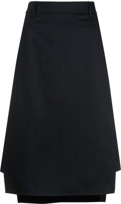 Prada High-Waisted Midi Skirt