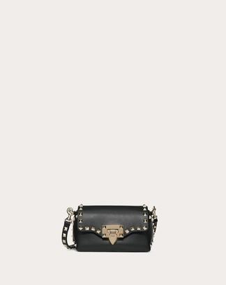 Valentino Mini Rockstud Calfskin Crossbody Bag Women Black Calfskin 100% OneSize