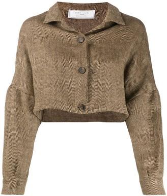 Societe Anonyme Cropped Herringbone Jacket