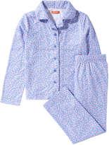Joe Fresh Kid Girls' Button Front Sleep Set, Sky Blue (Size L)