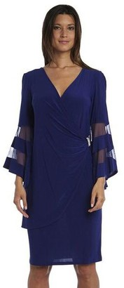 R & M Richards R&M Richards Knee-Length Dress with Bell Sleeves