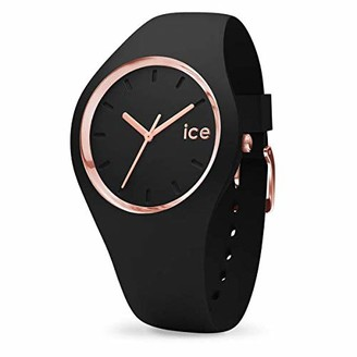 Ice Watch Ice-Watch - ICE glam Black Rose-Gold - Women's wristwatch with silicon strap - 000979 (Small)