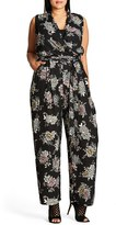City Chic Plus Size Women's Lush Floral Jumpsuit