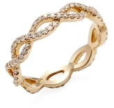 14K Yellow Gold & 0.56 Total Ct. Diamond Wave Eternity Band Ring