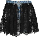 Taverniti So Ben Unravel Project Unravel Reverse Lace Denim Skirt