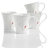 222 Fifth Winter Cardinal Dinnerware Collection