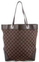 Gucci Leather-Trimmed GG Tote