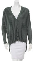 Alexander Wang Striped High-Low Cardigan