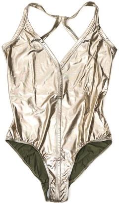 Rick Owens Metallic Effect Swimsuit