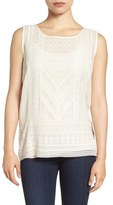 Lucky Brand Women's Embroidered Woven Tank