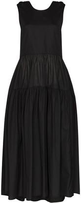 Cecilie Bahnsen Open-Back Sleeveless Midi Dress
