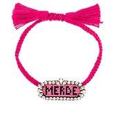 Shourouk 'Merde ' beaded bracelet