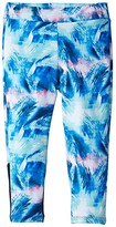 Flo Active Active Capri Leggings (Little Kids/Big Kids) (Blue Pixel Wave) Girl's Casual Pants