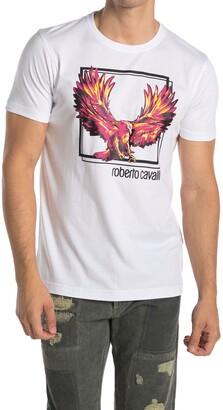Roberto Cavalli Phoenix Graphic Crew Neck T-Shirt