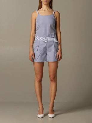 Armani Collezioni Armani Exchange Dress Striped Poplin Armani Exchange Suit