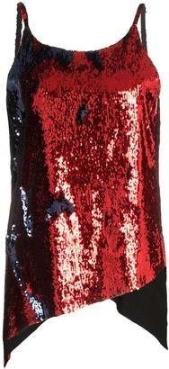 Marques Almeida Dropped Hem Sequinned Slip Top