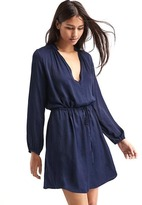 Gap Silky split-neck dress