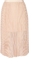 Tibi Pleated jacquard midi skirt