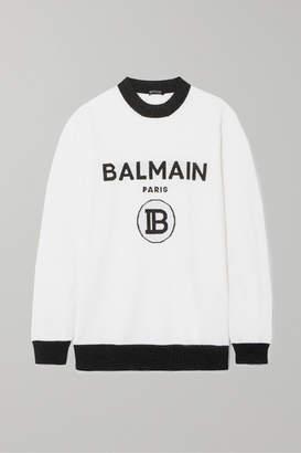 Balmain Metallic Intarsia Wool-blend Sweater - White