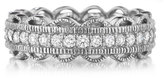 Penny Preville 18k White Gold Lace Diamond Ring, Size 6